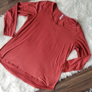 Lularoe 3XL rust solid colored long sleeve top
